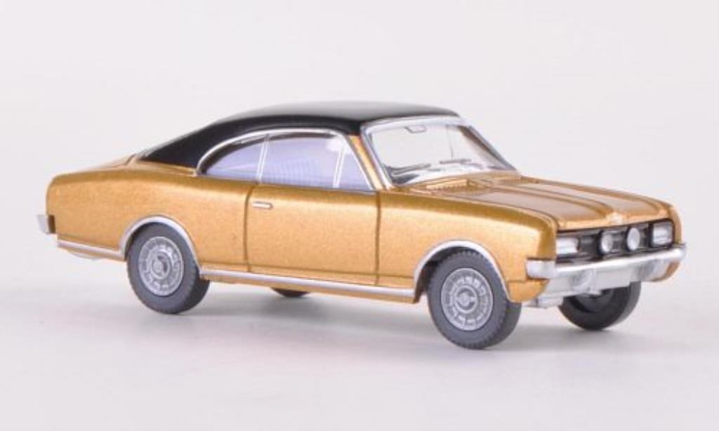 Opel Commodore A 1/87 Wiking Coupe gold/noire miniature