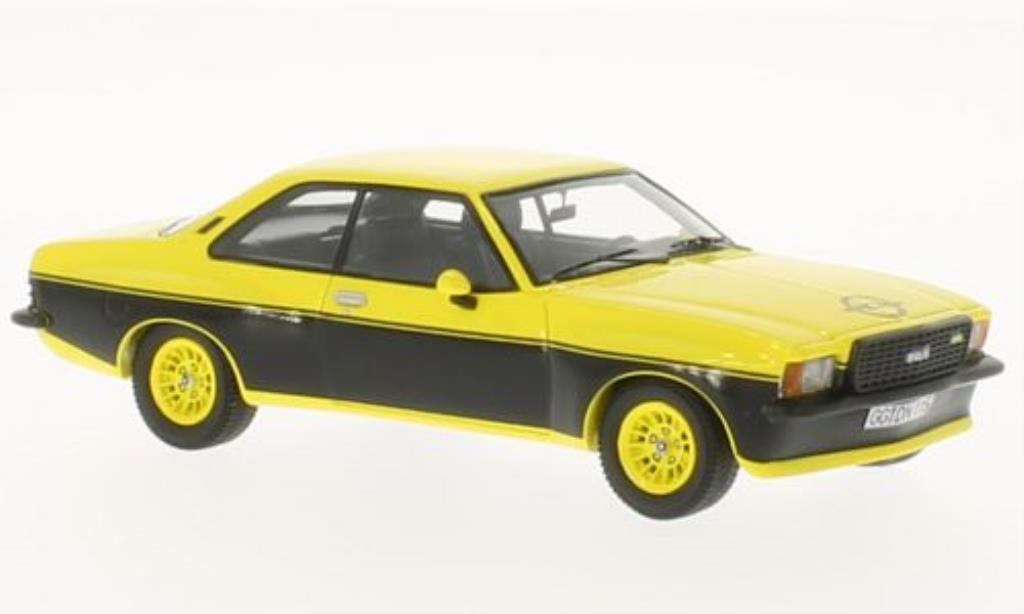 Opel Commodore B 1/43 Neo GS/E Steinmetz jaune/noire miniature