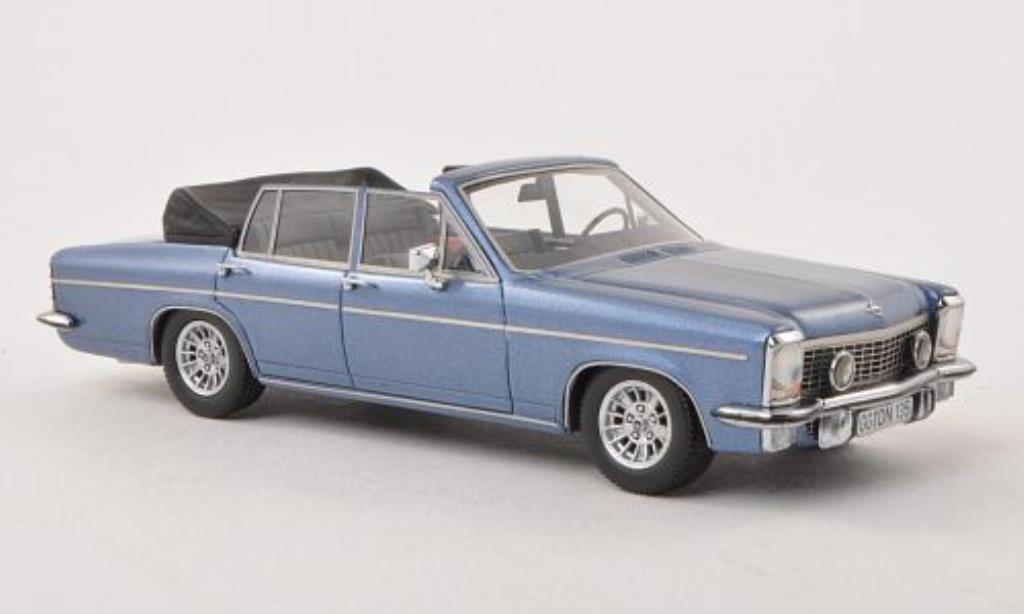 Opel Diplomat 1/43 Neo B Cabriolet Fissore bleu 1971 diecast