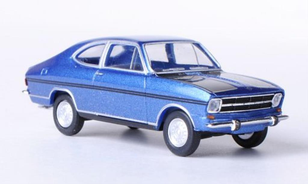 Opel Kadett B 1/87 Herpa Coupe Rally bleu/noire miniature