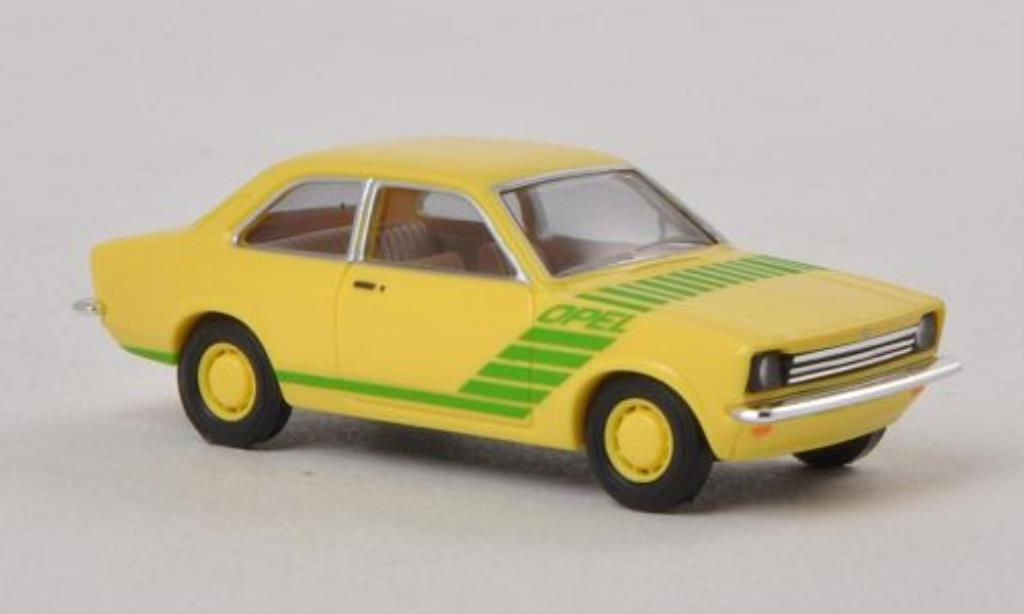 Opel Kadett C 1/87 Busch Swinger yellow/green 1977 diecast