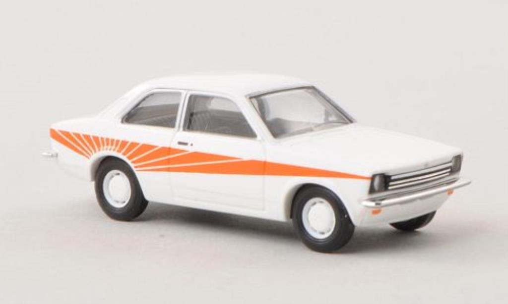 Opel Kadett C 1/87 Busch Swinger blanco/naranja 1977 miniatura