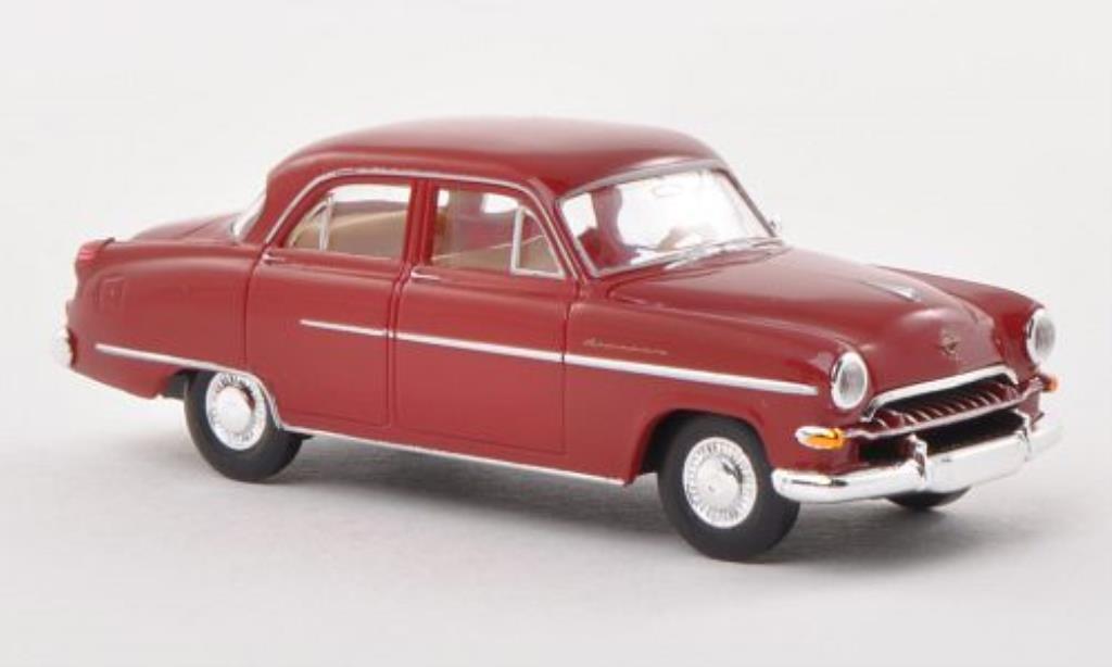 Opel Kapitan 1/87 Brekina 1954 rouge miniature