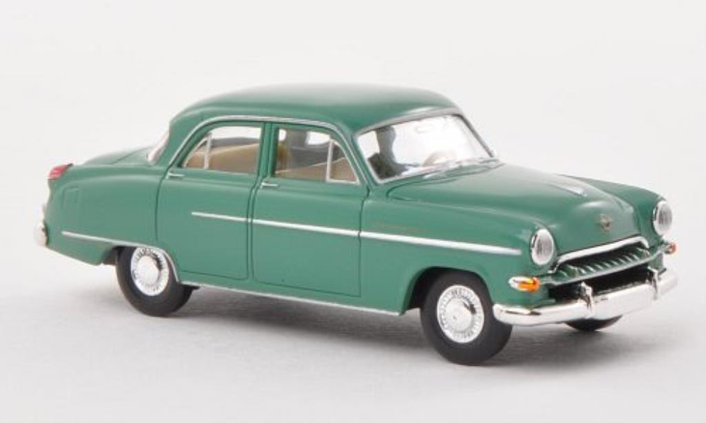 Opel Kapitan 1/87 Brekina 1954 verte miniature