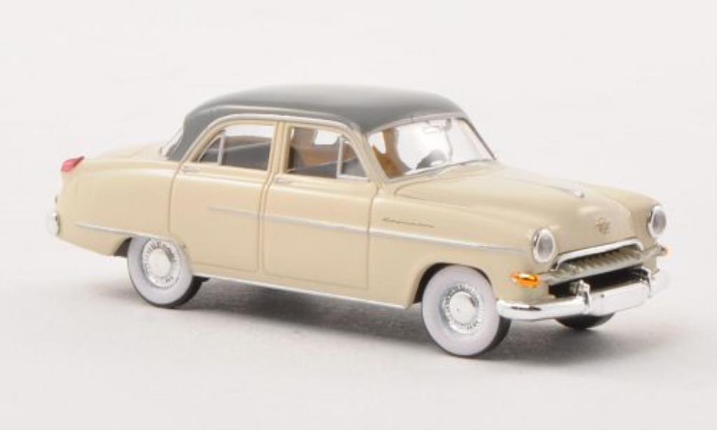 Opel Kapitan 1/87 Brekina beige/grise 1954 miniature