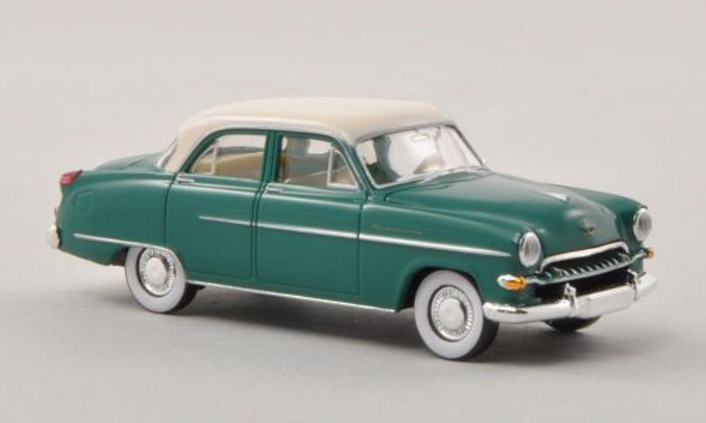 Opel Kapitan 1/87 Brekina verte/beige 1954 miniature