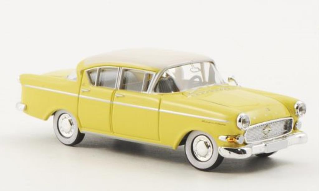 Opel Kapitan 1/87 Brekina P 2.5 jaune/blanche miniature