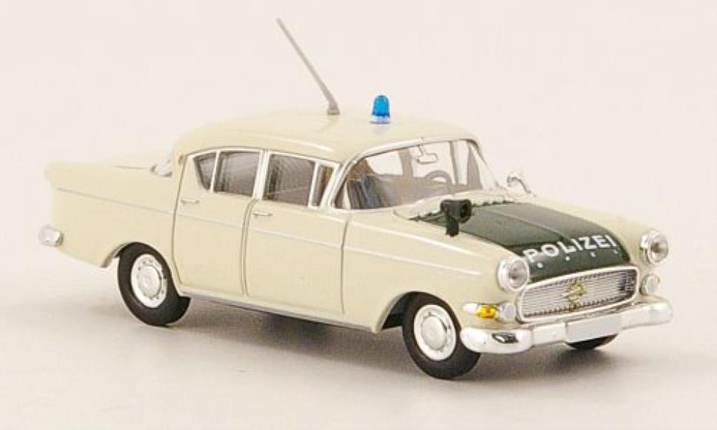 Opel Kapitan 1/87 Brekina P 2.5 Polizei blanche/verte miniature