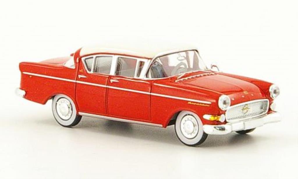 Opel Kapitan 1/87 Brekina P-L 2.5 rouge/blanche 1958 miniature