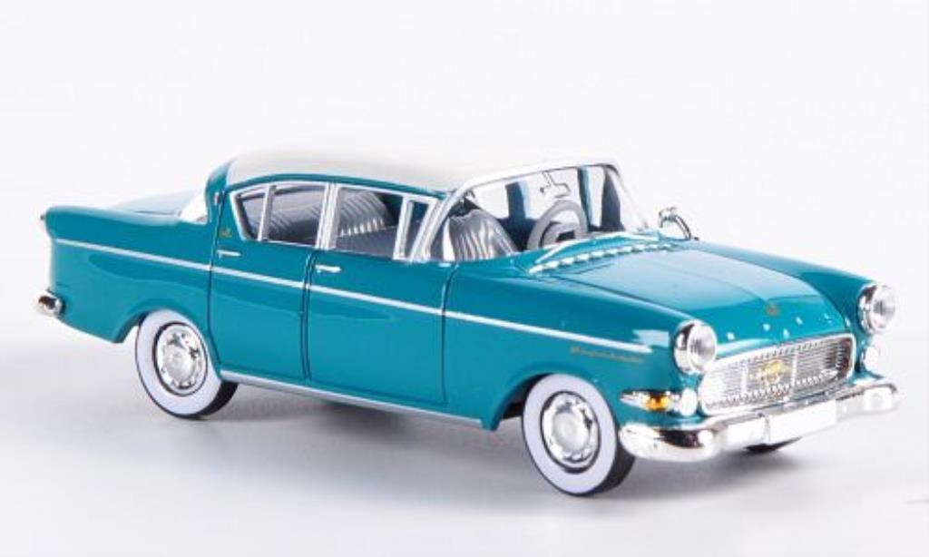 Opel Kapitan 1/87 Brekina P2.5 bleu-verte/blanche miniature