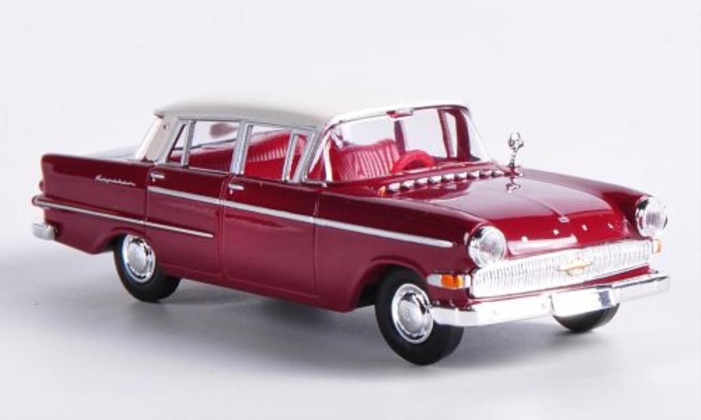 Opel Kapitan 1/87 Brekina P2.6 rouge/blanche miniature