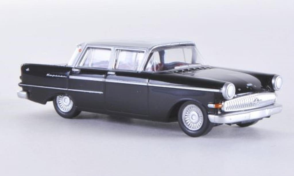 Opel Kapitan 1/87 Herpa P2.6 noire/blanche miniature