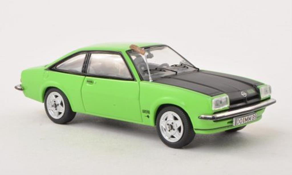 Opel Manta B 1/43 Schuco GT/E grun/matt-noire mit Fuchsschwanz miniature