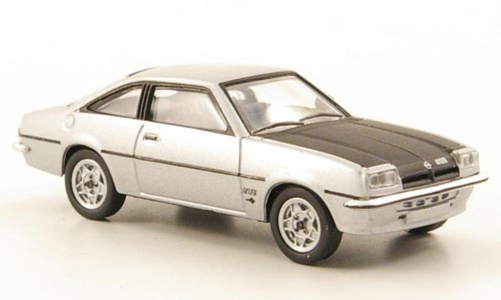 Opel Manta B 1/87 Herpa GT/E grise/noire miniature