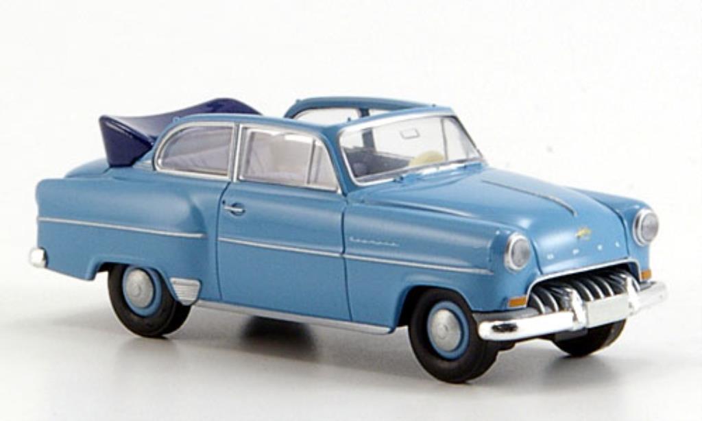 Opel Olympia 1/87 Brekina Cabrio bleu miniature