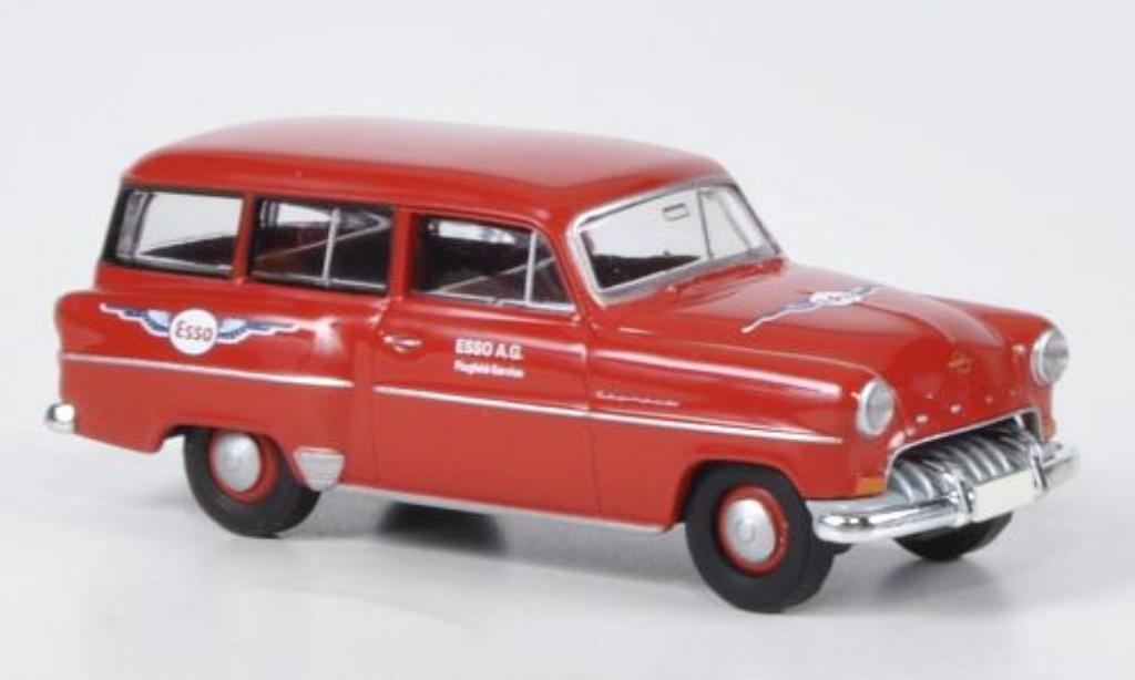 Opel Olympia 1/87 Brekina Caravan Esso Flugservice miniature