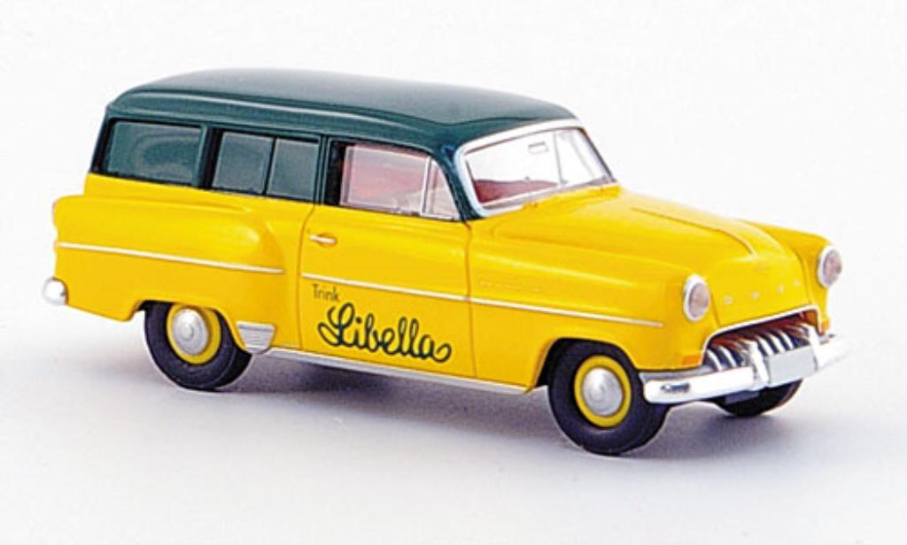 Opel Olympia 1/87 Brekina Caravan Libella jaune/verte miniature