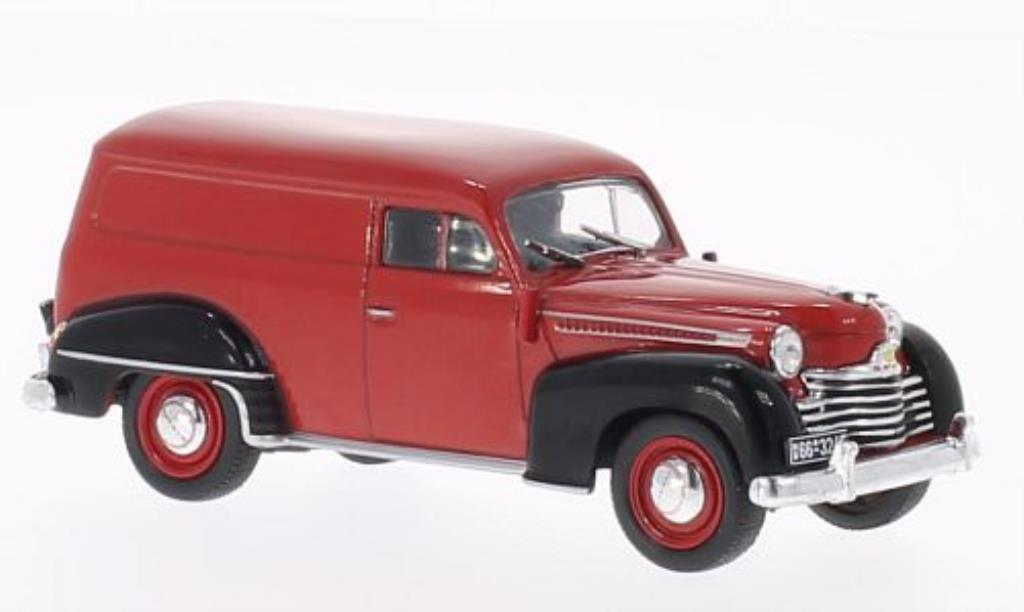 Opel Olympia 1/43 WhiteBox Kastenwagen rouge/noire 1950 miniature