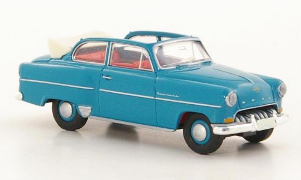 Opel Olympia 1/87 Brekina Rekord Cabrio-Limousine turquoise miniature