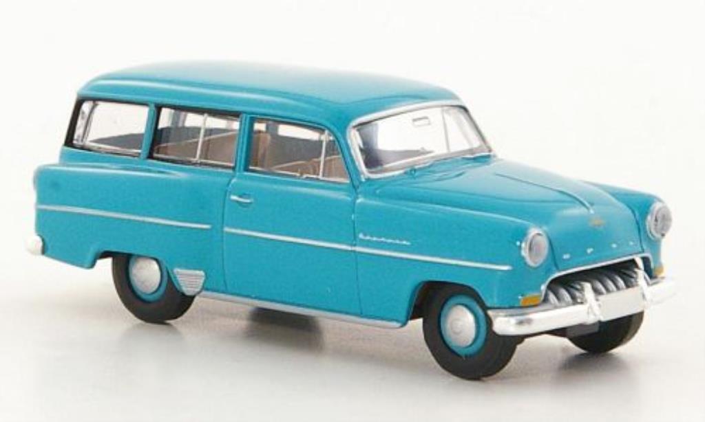 Opel Olympia 1/87 Brekina Rekord Caravan turquoise miniature