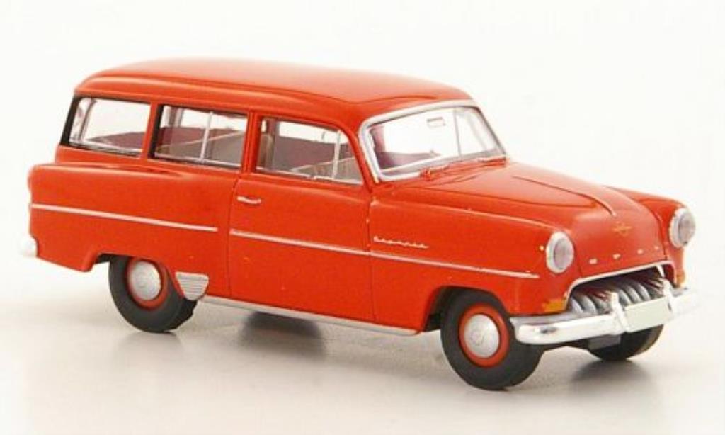 Opel Olympia 1/87 Brekina Rekord Caravan rouge miniature