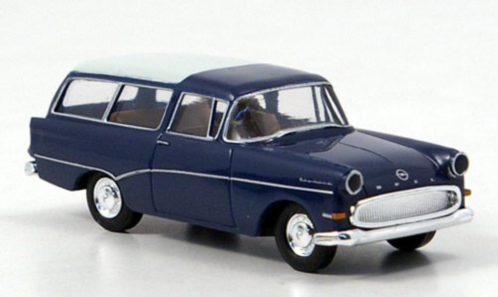 Opel Rekord 1/87 Brekina P 1 Caravan bleu/blanche 1957 miniature