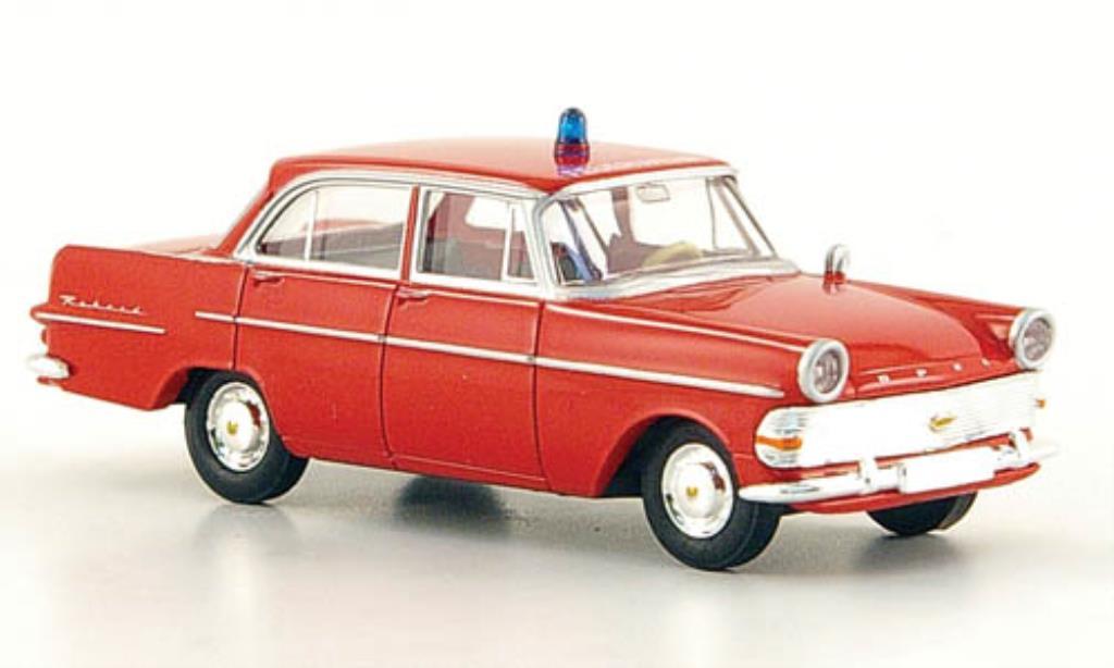 Opel Rekord 1/87 Brekina P 2 Feuerwehr miniature