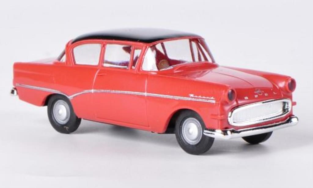 Opel Rekord 1/87 Brekina P1 rouge/noire miniature