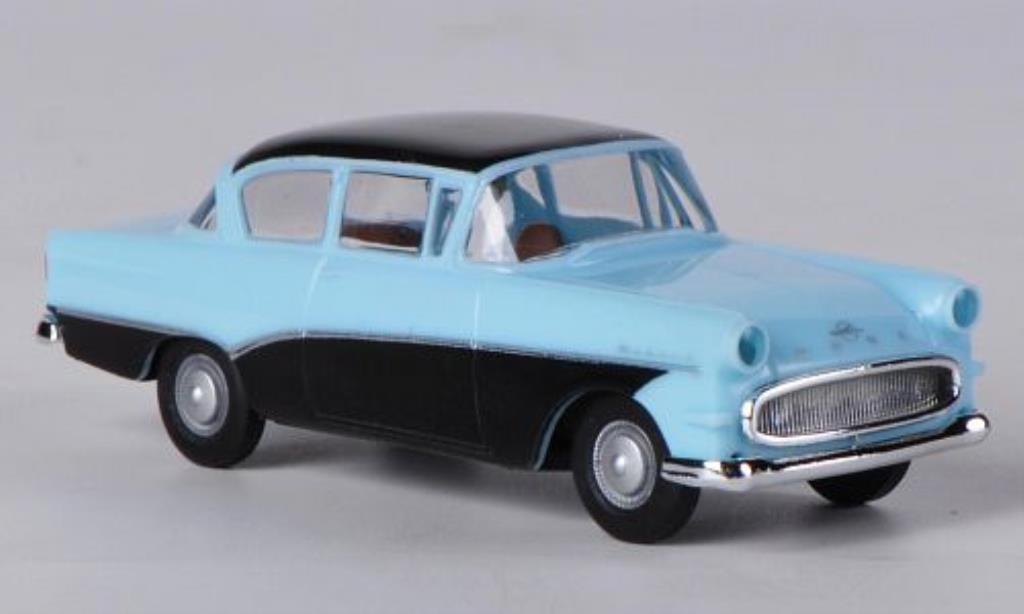 Opel Rekord 1/87 Brekina P1 bleu/noire miniature