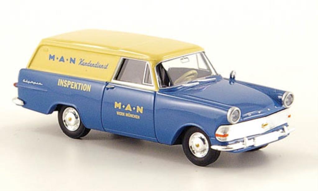 Opel Rekord 1/87 Brekina P2 Kasten MAN Kundendienst miniature