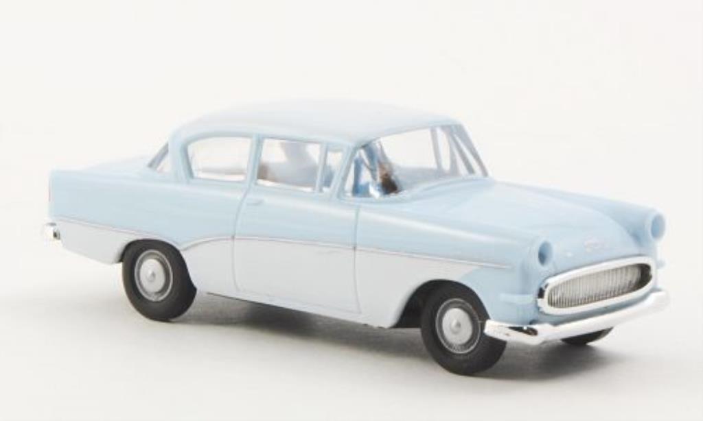 Opel Rekord 1/87 Brekina PI bleu/blanche miniature