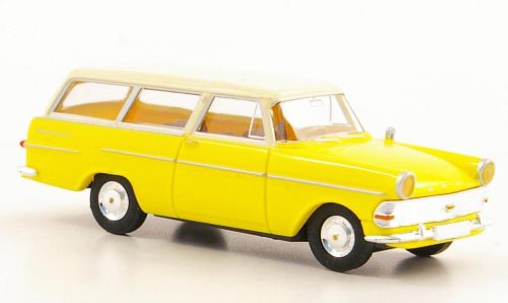 Opel Rekord 1/87 Brekina PII Caravan jaune/beige miniature