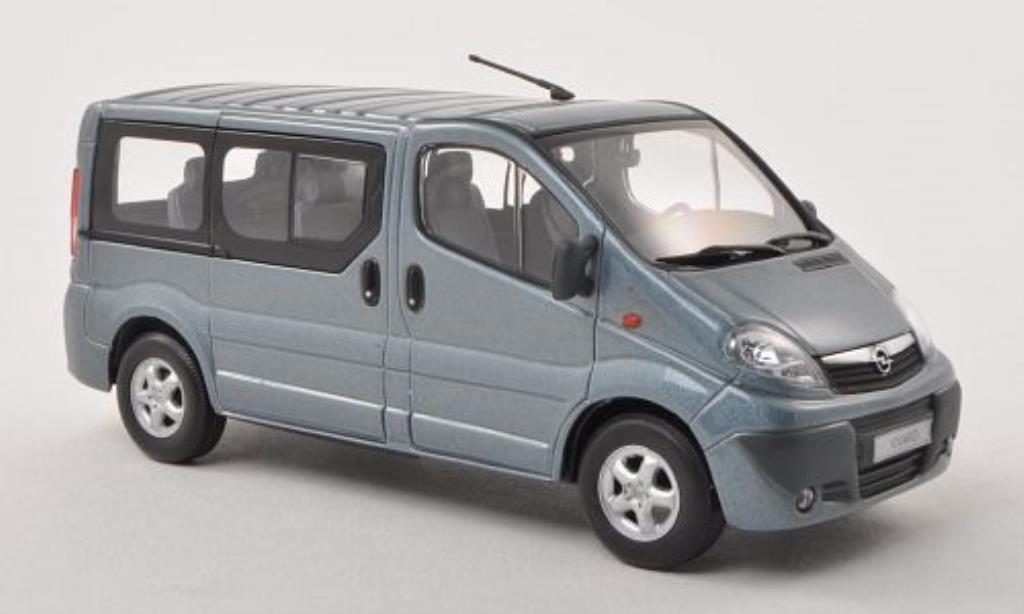 Opel Vivaro 1/43 Minichamps Bus bleu-grise miniature