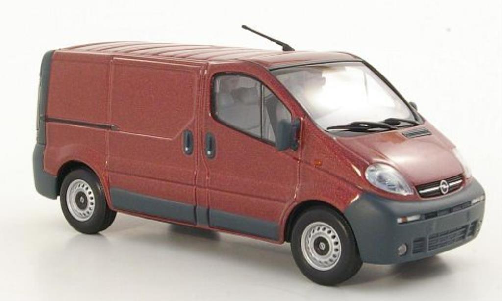 Opel Vivaro 1/43 Minichamps Kasten rouge 2001 miniature