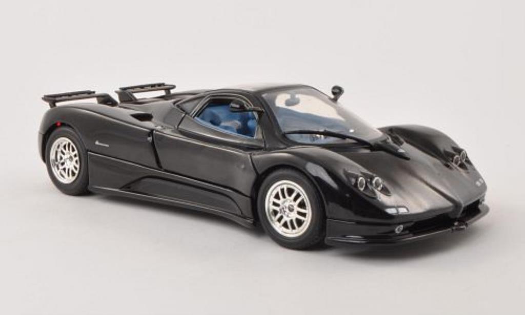 Pagani Zonda C12 1/18 Motormax schwarz 2004 modellautos