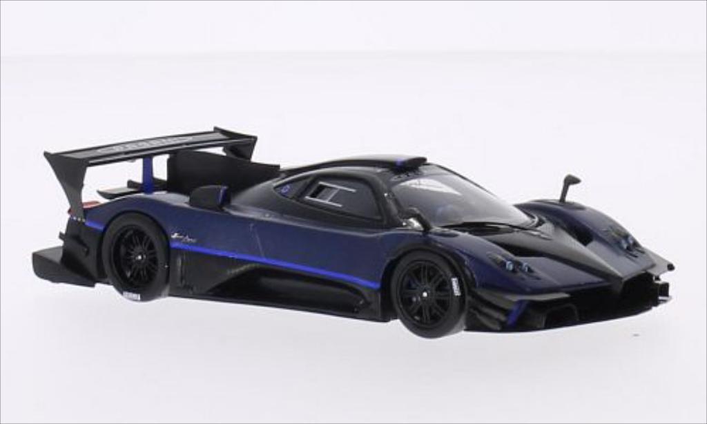 Pagani Zonda R 1/43 Spark Evolucion bleu/carbon 2014 miniature