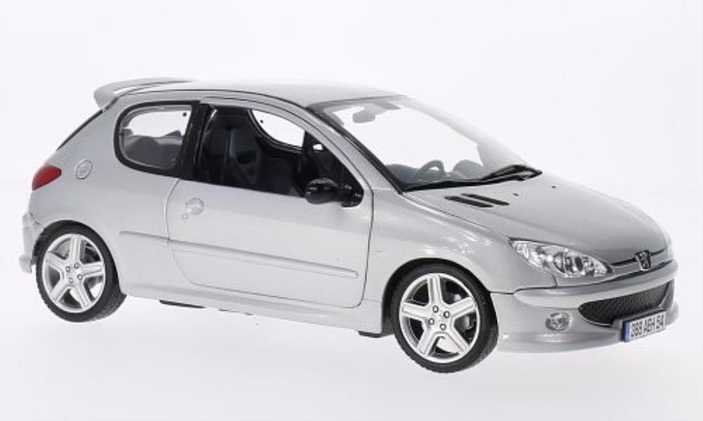 Peugeot 206 RC 1/18 Norev grise 2003 miniature