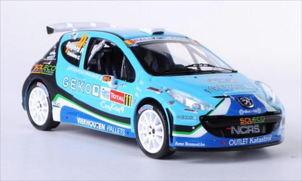 Peugeot 207 S2000 1/43 IXO No.11 New Caen Rally Sport Rally Ypern 2010 /C.Cokelaere miniature