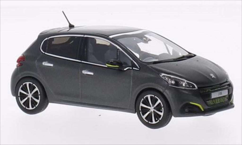 Peugeot 208 1/43 Norev matt-gray 2015 diecast