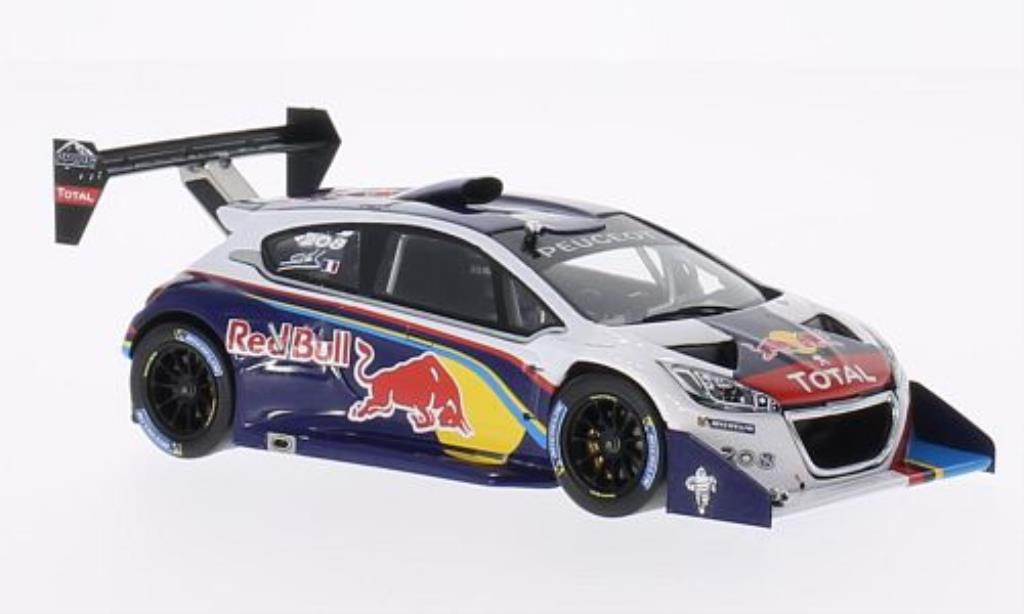 Peugeot 208 T16 1/43 Spark No. Red Bull Pikes Peak 2013 miniature