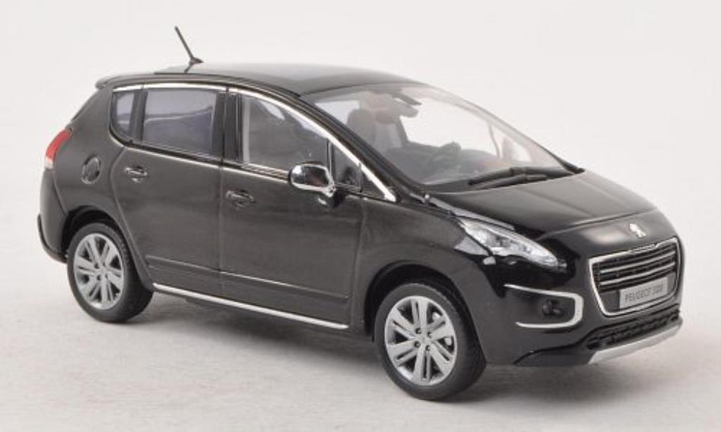 Peugeot 3008 1/43 Norev noire 2013 miniature