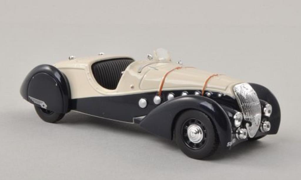 Peugeot 302 Roadster 1/43 Norev Darl'Mat bleu/beige 1937 miniature