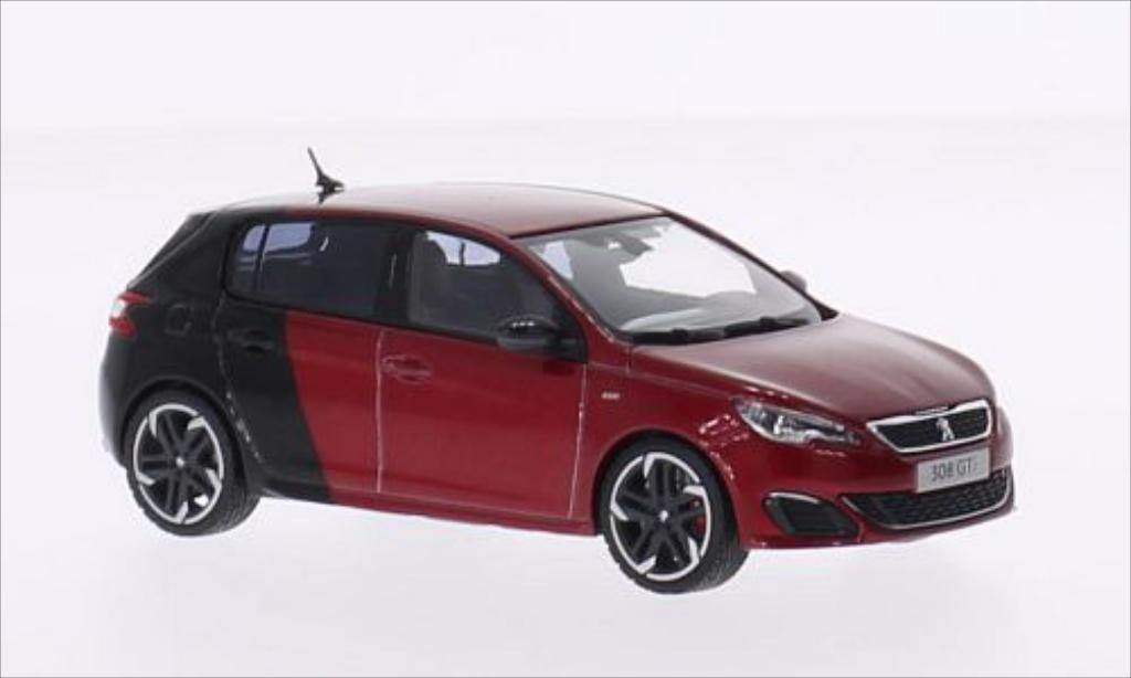 Peugeot 308 GTI 1/43 Norev metallise red/black 2015 diecast model cars