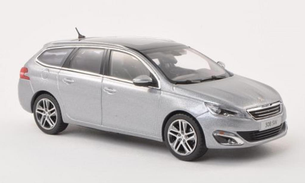 Peugeot 308 GT 1/43 Norev SW grey 2014 diecast model cars