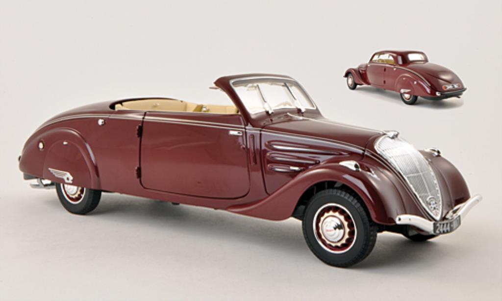 Peugeot 402 1/18 Norev Eclipse rouge 1937 miniature