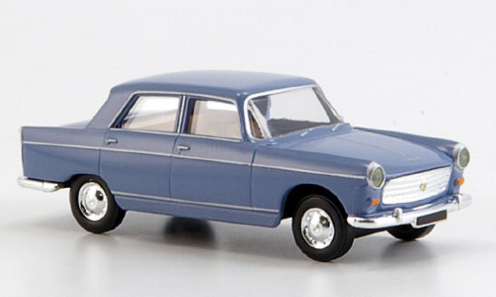 Peugeot 404 Berline 1/87 Brekina Limousine bleu miniature