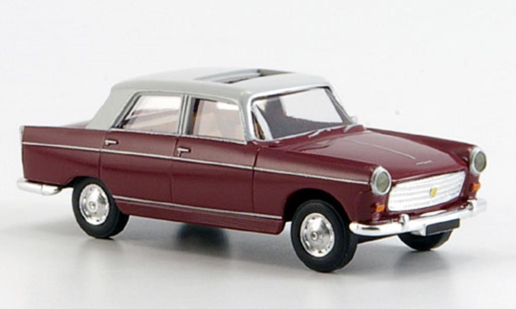 Peugeot 404 Berline 1/87 Brekina Limousine rouge/grise Schiebedach miniature
