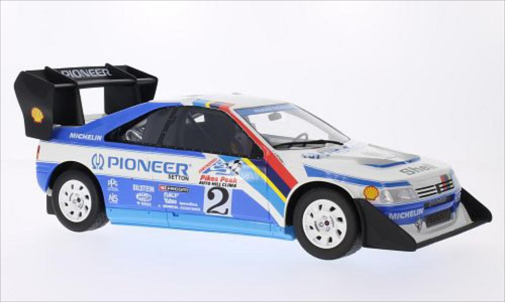 Peugeot 405 Turbo 16 1/18 Ottomobile No.2 Pikes Peak 1988 miniature