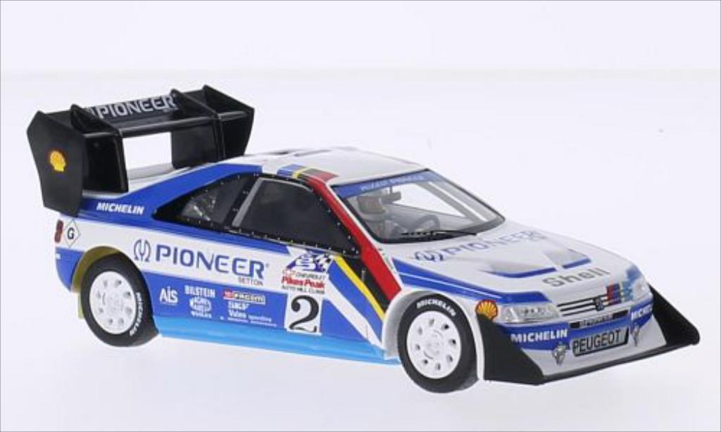 Peugeot 405 Turbo 16 1/43 Spark No.2 Pioneer International Hill Climb Pikes Peak 1989 miniature