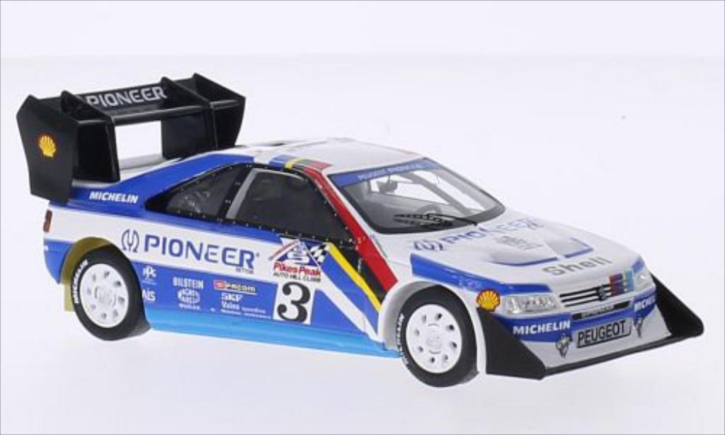 Peugeot 405 Turbo 16 1/43 Spark No.3 Pioneer International Hill Climb Pikes Peak 1988 miniature
